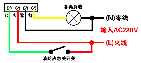 供应带消防强启功能人体感应开关四线带消防感应开关